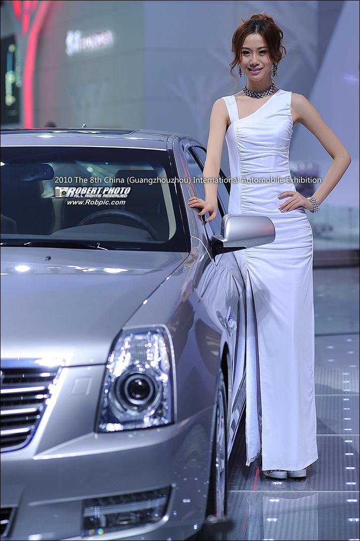 2010第八届广州国际车展车模之凯迪拉克   www.robpic.com