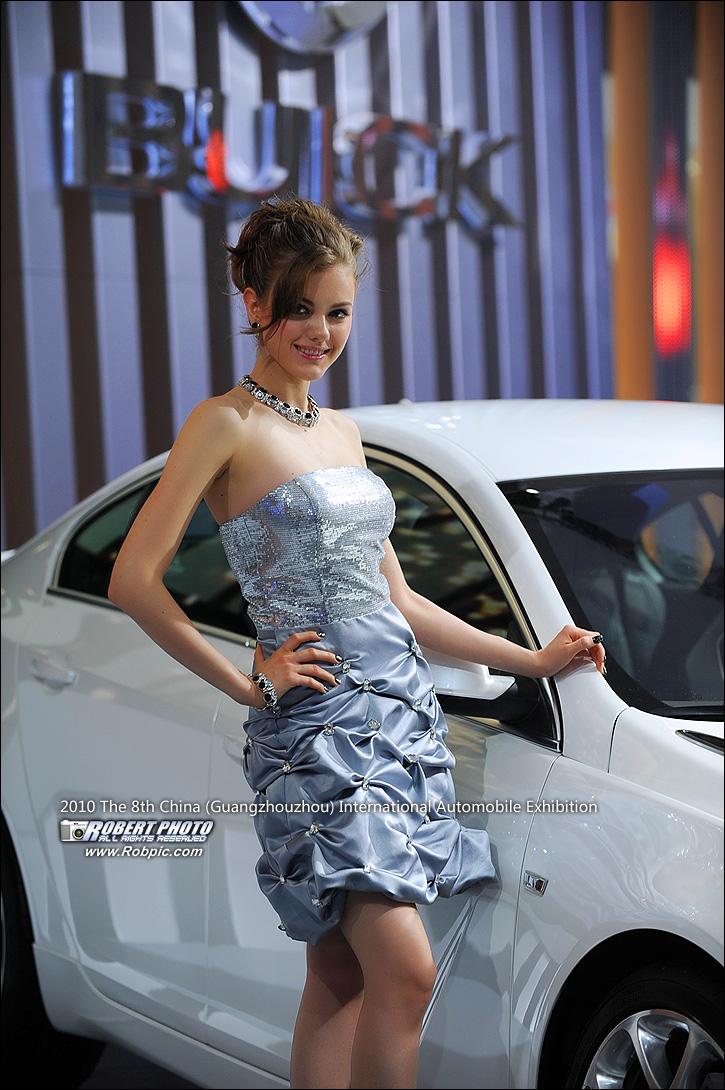 2010第八届广州国际车展车模之别克  www.robpic.com