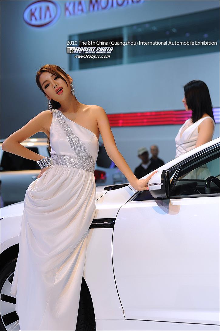2010第八届广州国际车展之起亚车模  www.robpic.com