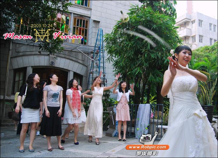 广州基督教东山堂mason与vivian大婚之喜  www.robpic.com