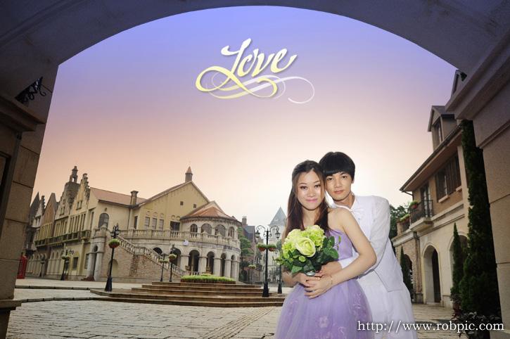 婚纱摄影:阿成与小杏 拍摄地点:花都九龙湖度假区欧洲小镇 拍摄单位图片